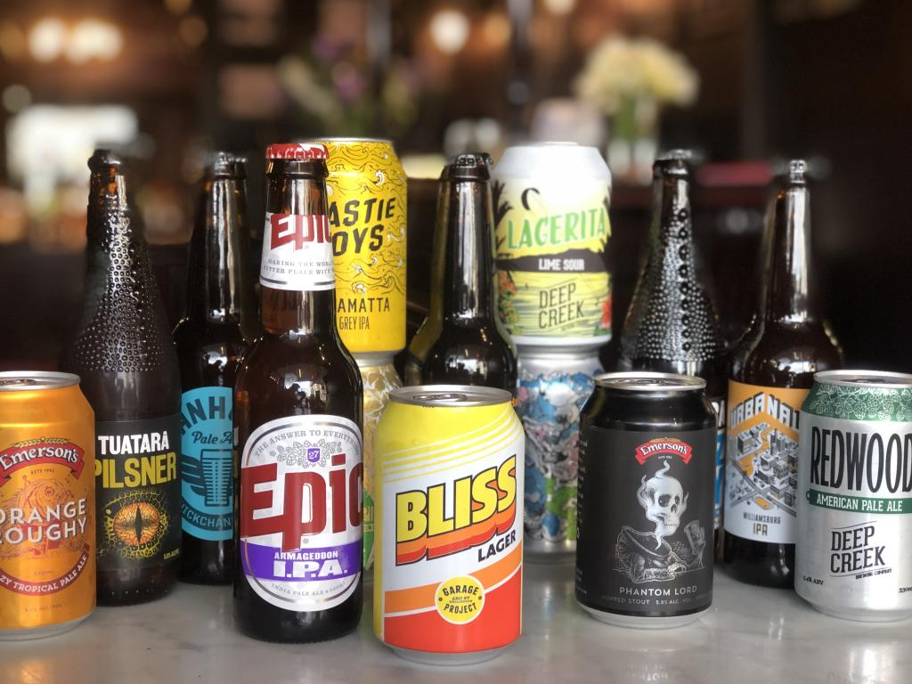 A selection of our Craft beers